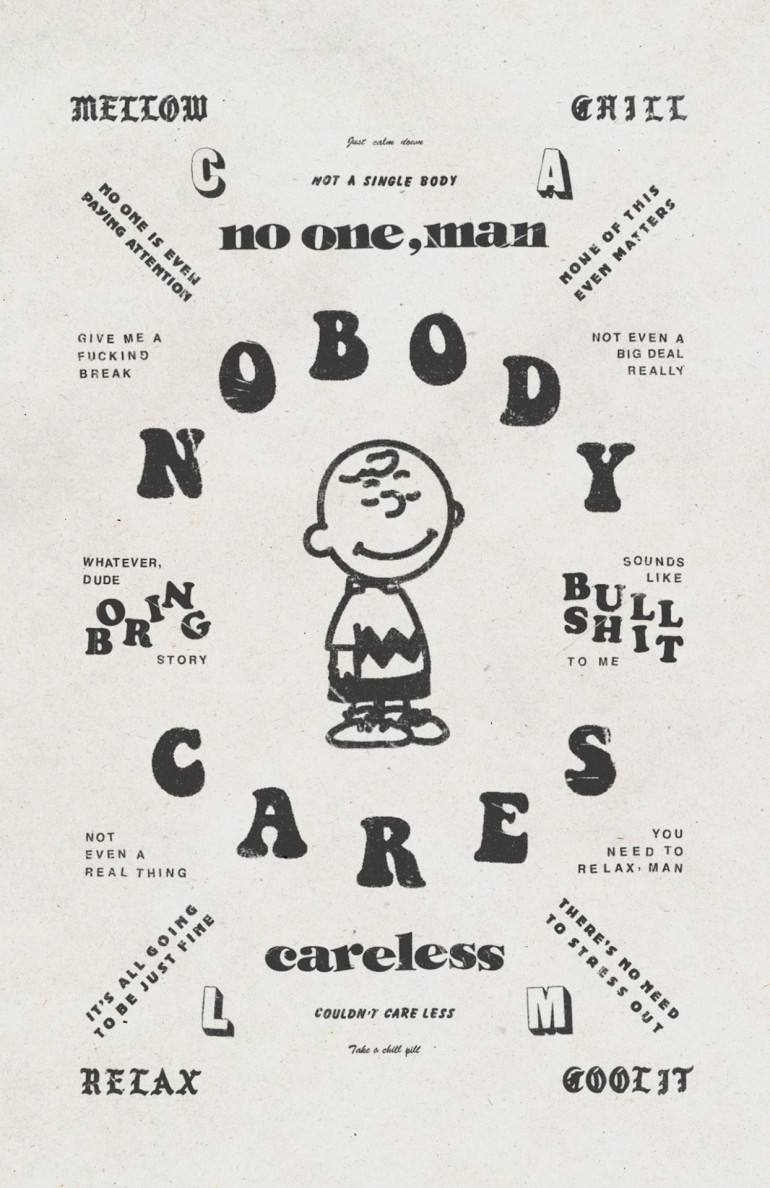 NOBODY CARES Poster Design