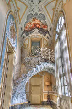 Stairs and Painting in Palazzo Biscari, Catania