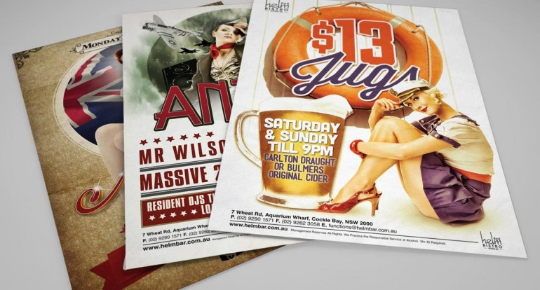 Helm Bar Poster Series – from the archives!