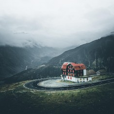 House at furkapass in Switzerland