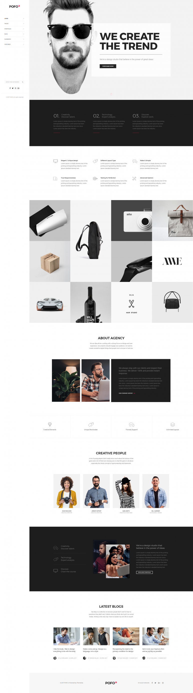 Pofo Creative WordPress Theme – Creative Business