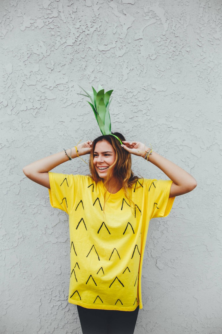 Be a Pineapple: Halloween Costume DIY