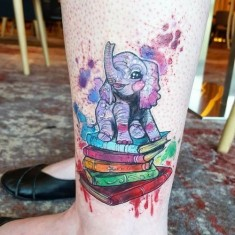 Cute Baby Elephant Tattoos