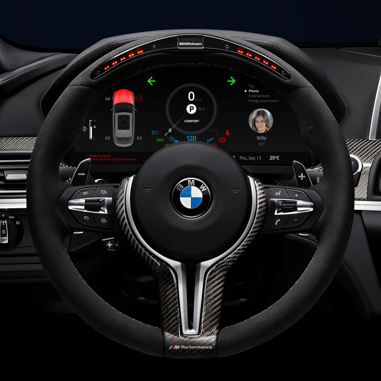 BMW Warning lights + calling wife by Denys Nevozhai