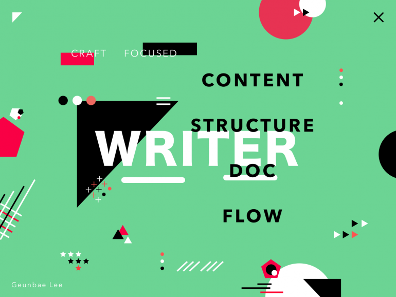 """Writer – colorful poster exploration by Geunbae """"GB"""" Lee"""