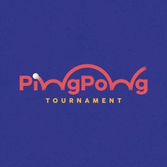 Ping Pong Tournament Logo João Augusto