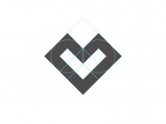 L + Heart Logo by Santiago Barrionuevo