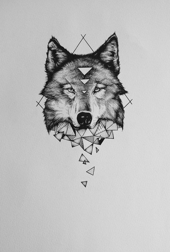 40ca7dd64e5c3 Beautiful Wolf Tattoo Design ideas on Inspirationde