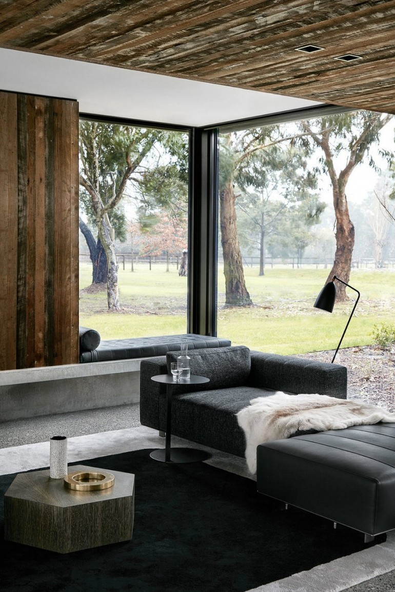 Modern Rural Retreat Featuring a Robust, Functional and Minimalistic Design
