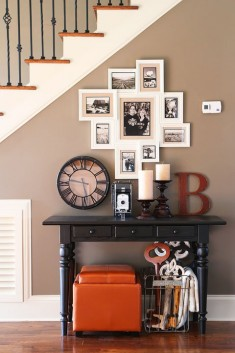 Photo Gallery Wall Under the Stairs { House Tour }