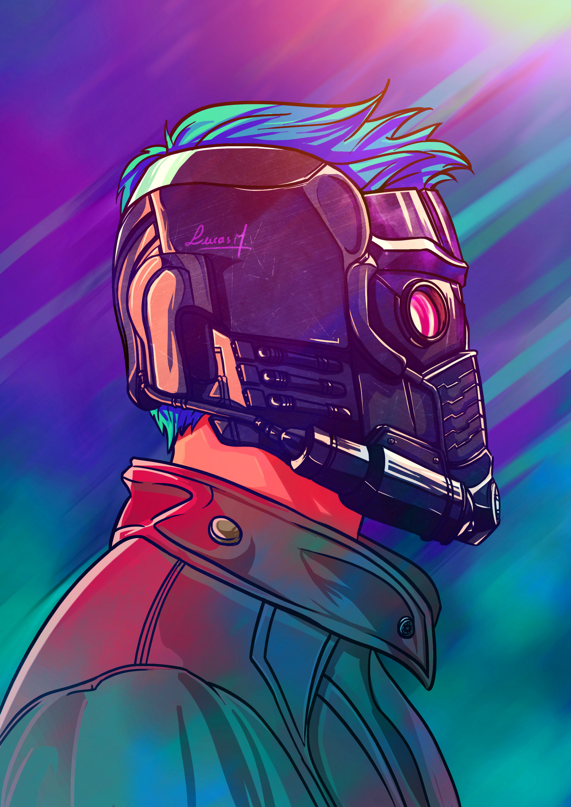 Starlord Illustration, Lucas Mendonça