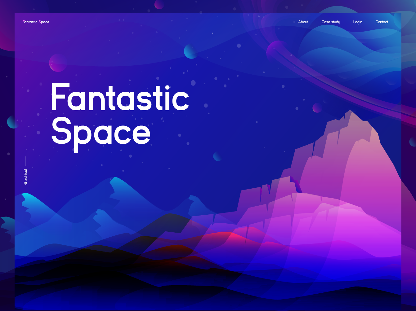 Fantastic Space Illustration by Zahidul