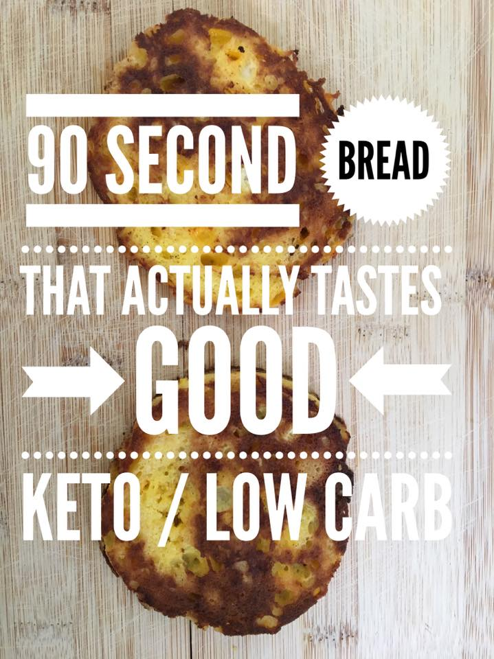 90 Second Bread that Actually Tastes GOOD {Keto / Low Carb}