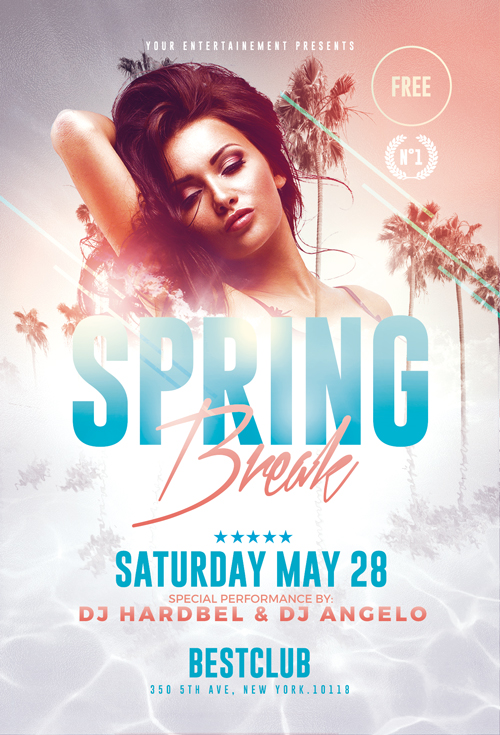 Spring flyer Templates
