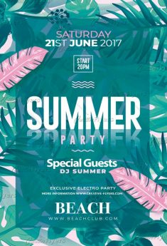 SUMMER PARTY POSTER PSD