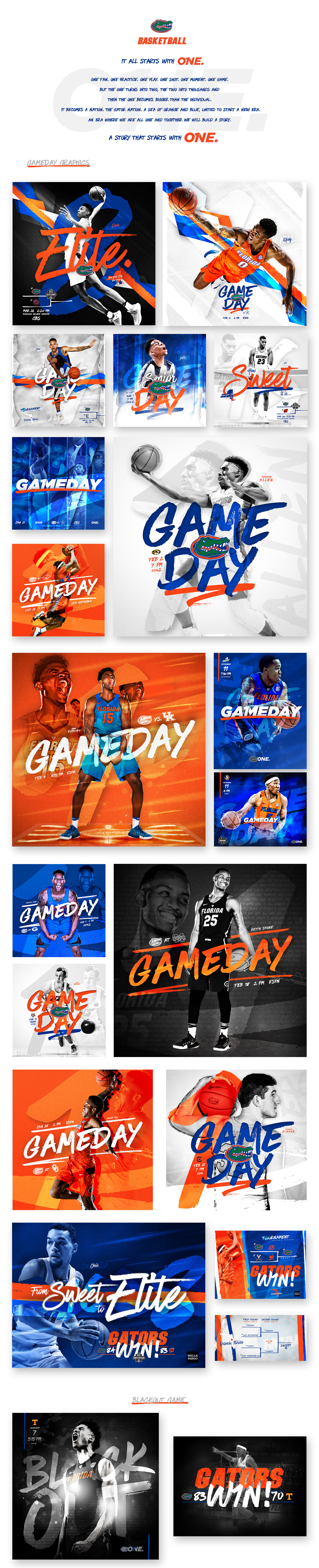 2016-17 Florida Gators Men's Basketball Social Graphics
