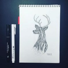 Dotwork Tattoo Sketches – Tree by Anna Sereda