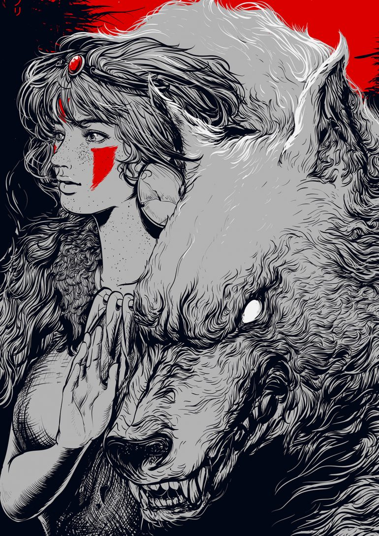 Princess Mononoke by edz Gatdula