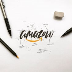 Calligraphic @amazon by @luislili