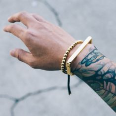 The Bar Bracelet paired with the new Grand Bracelet