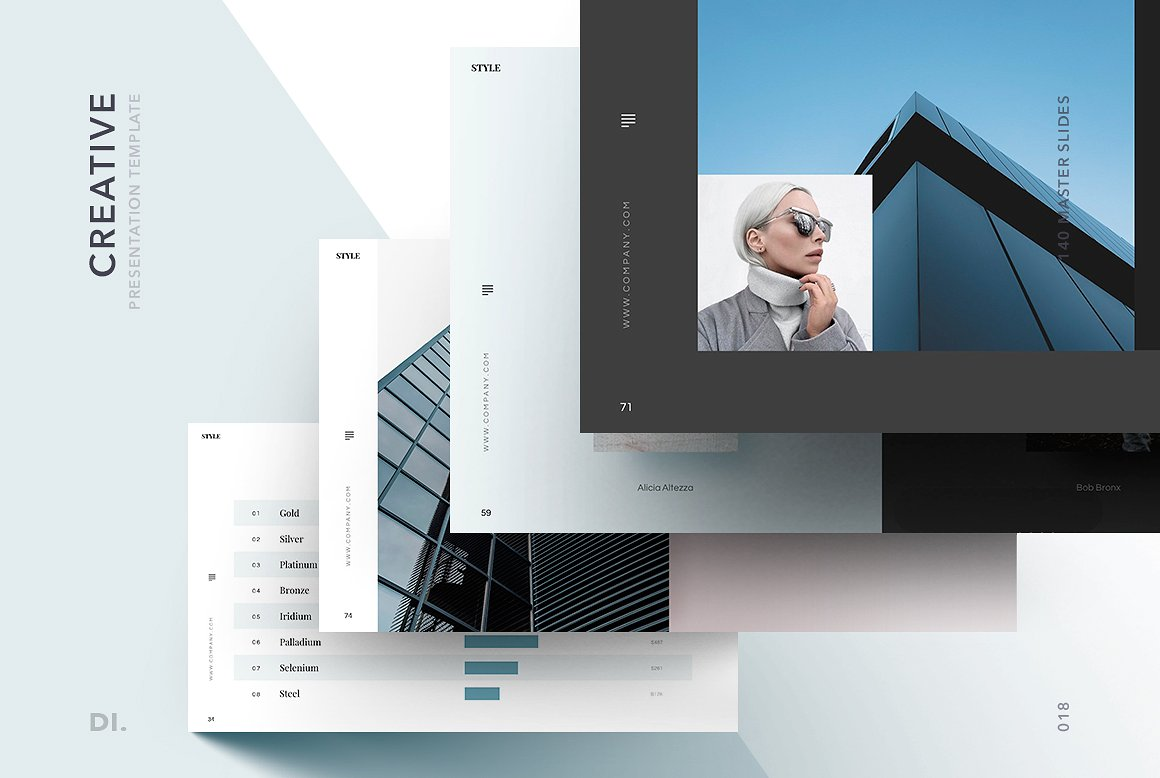 Presentation Templates Product Images ~ STYLE Powerpoint Template