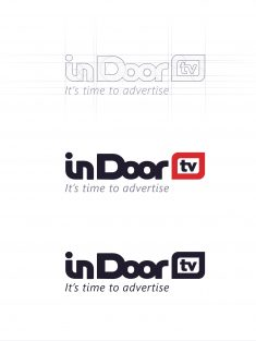 In Door TV – Process logo creating