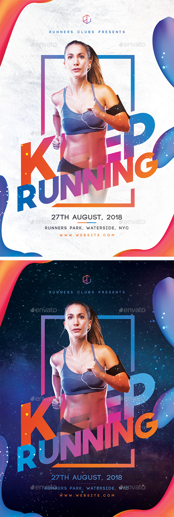 Keep Running Flyer by SUPERBOY1