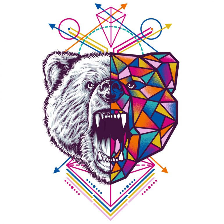 Bear – Geometric Animal Series