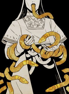 Gold Snakes Aesthetic