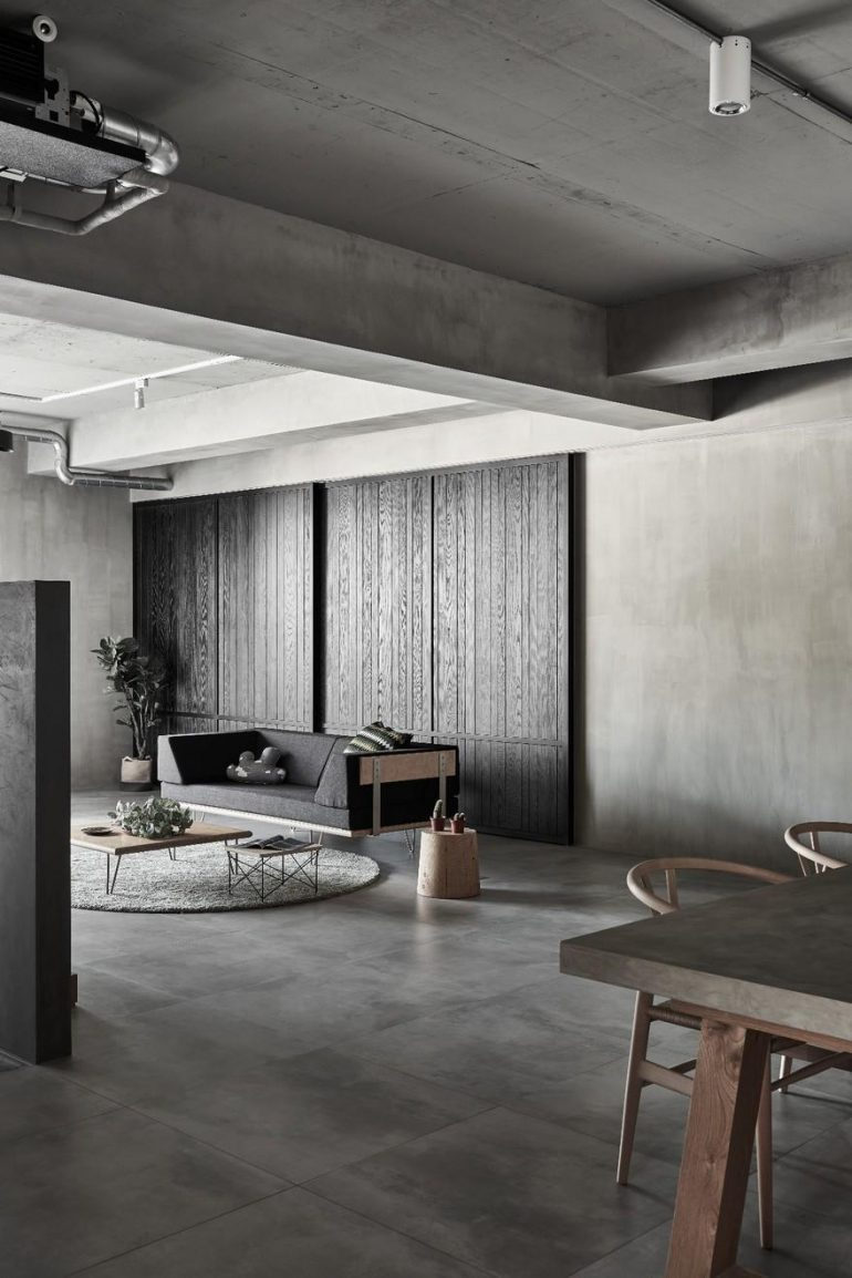 Simplistic Aesthetics with Industrial Elements: Gentle Heart of Steel by HAO Design