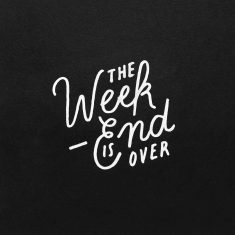 """The """"big weekend"""" is over"""