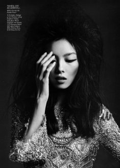 Fei Fei Sun photographed by Hedi Slimane for Vogue China
