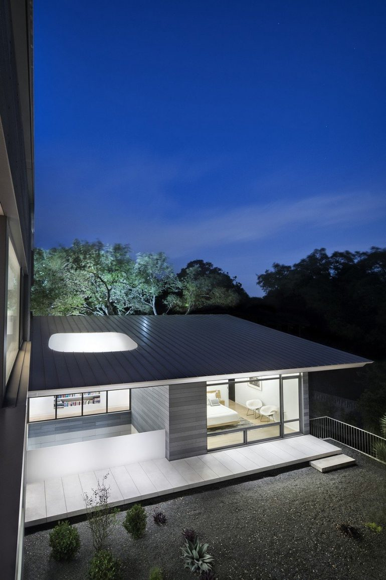 Vista Residence by Miró Rivera Architects is Organized Around a Three-Story, Sculptural Steel St ...