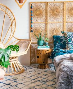 Bohemian Bedroom Decor – Woven Lattice Headboard