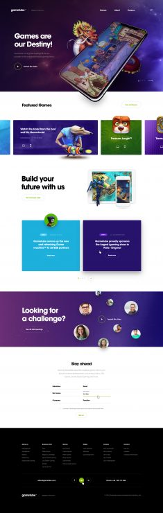 Gametube – landing page by Lukas Majzlan