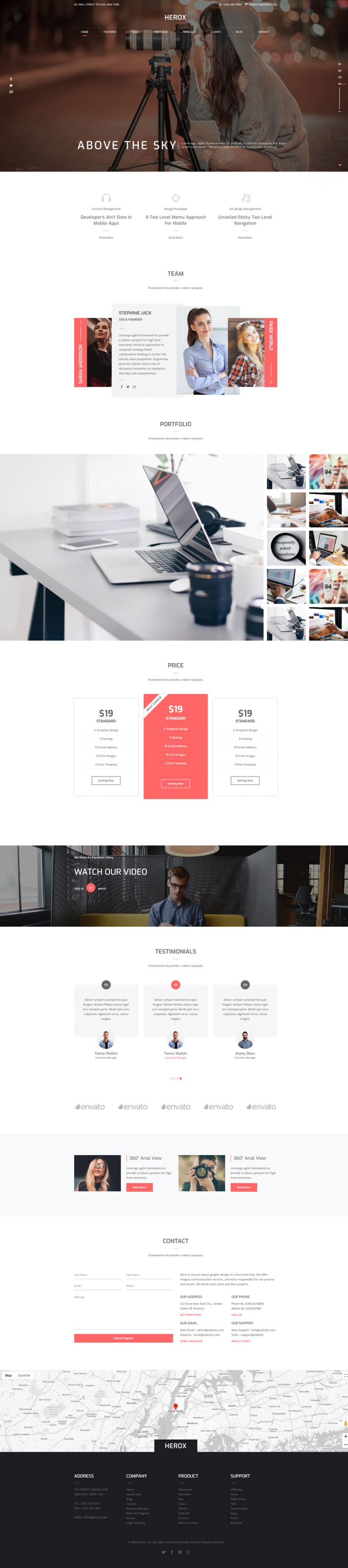Herox – One Page Parallax