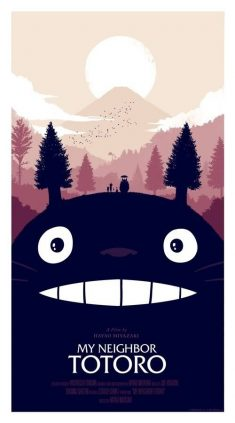 Olly Moss' Poster for My Neighbor Totoro