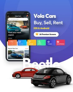 Vola Cars – New Car, Used Car, Sell Car and Rental Car Mobile UI Kit for sketch App