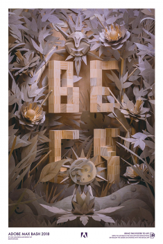 Beck poster for Adobe MAX 2018