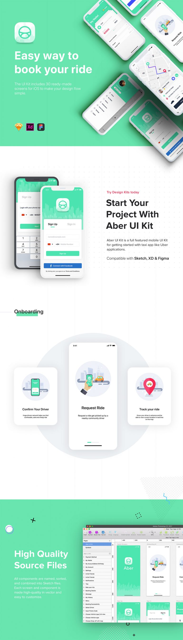 ABER – Taxi UI Kit for Mobile App