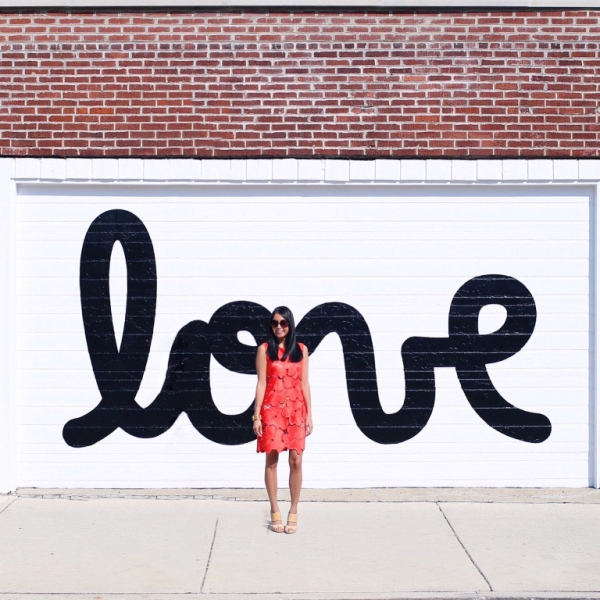 Black + White Love Wall by Matthew Hoffman