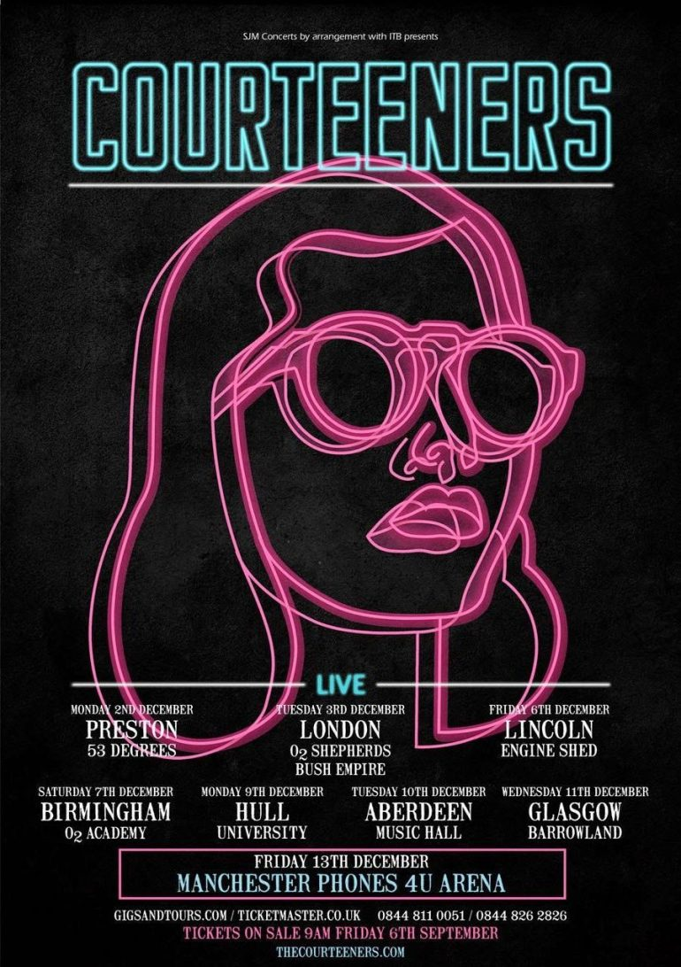 The Courteeners Gig poster
