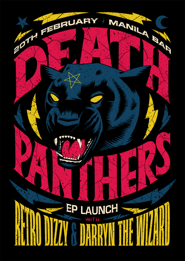 Death Panthers EP Launch Poster