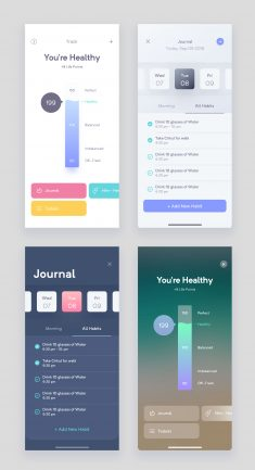 Fitness App Variations by Faria