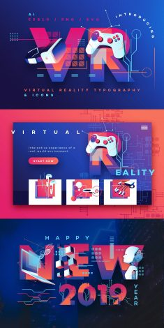 VR Icons and Typography