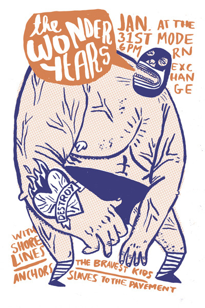 James Heimer Illustration, Oldie, Wonder Years tour series