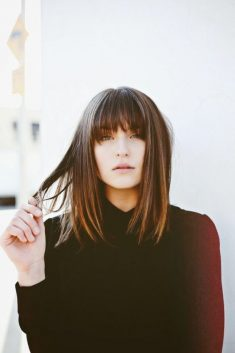 Dark Brown Hair with Bangs ♥