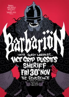 Another poster for BARBARION.