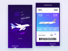 UI design exploration for Airbus iOS app by Gleb Kuznetsov