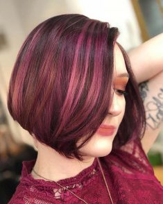 BURGUNDY CHIN LENGTH BOB